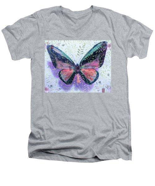 Butterfly Garden Fantasy Men's V-Neck T-Shirt