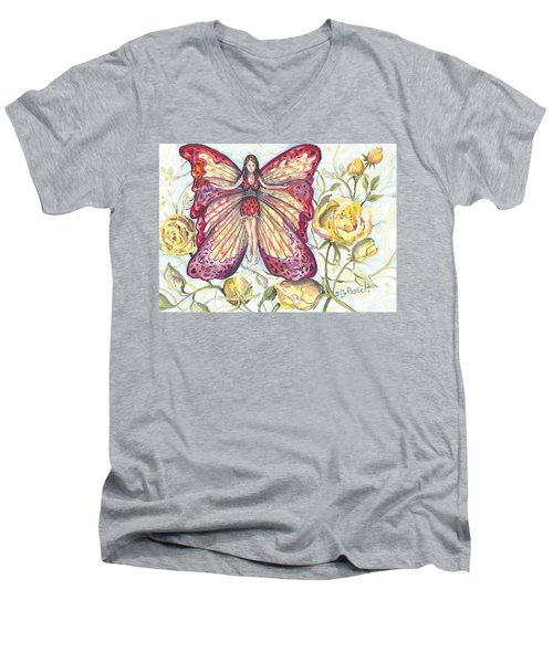 Butterfly Grace Fairy Men's V-Neck T-Shirt