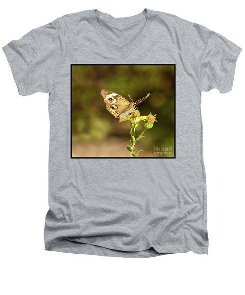 Butterfly In Bokeh Men's V-Neck T-Shirt by Steven Parker