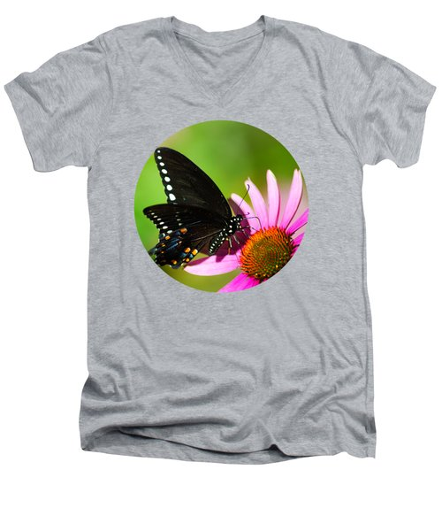 Butterfly In The Sun Men's V-Neck T-Shirt by Christina Rollo