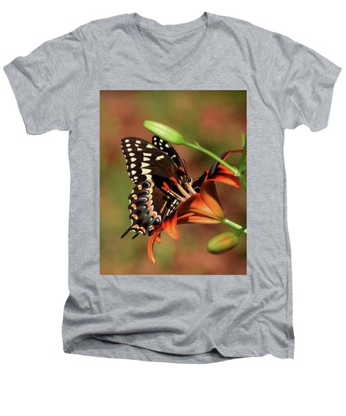 Butterfly Kiss 2 Men's V-Neck T-Shirt