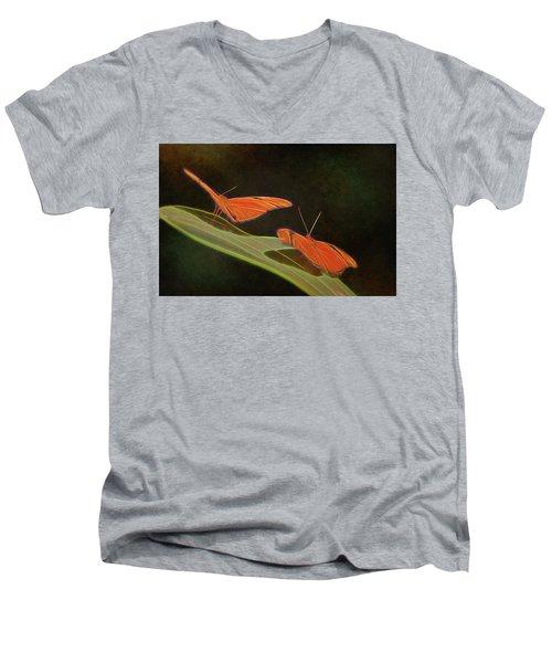 Butterfly Love 1a Men's V-Neck T-Shirt