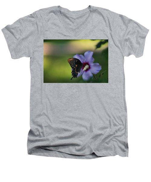 Butterfly Lunch Men's V-Neck T-Shirt