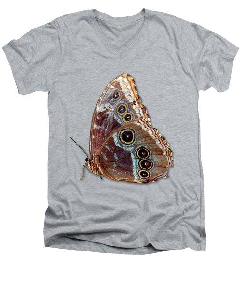 Butterfly Macro Men's V-Neck T-Shirt by Bob Slitzan