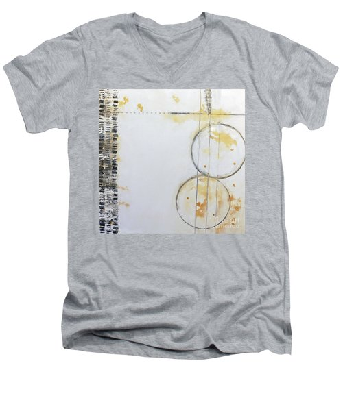 Butterfly Tracks Men's V-Neck T-Shirt by Gallery Messina