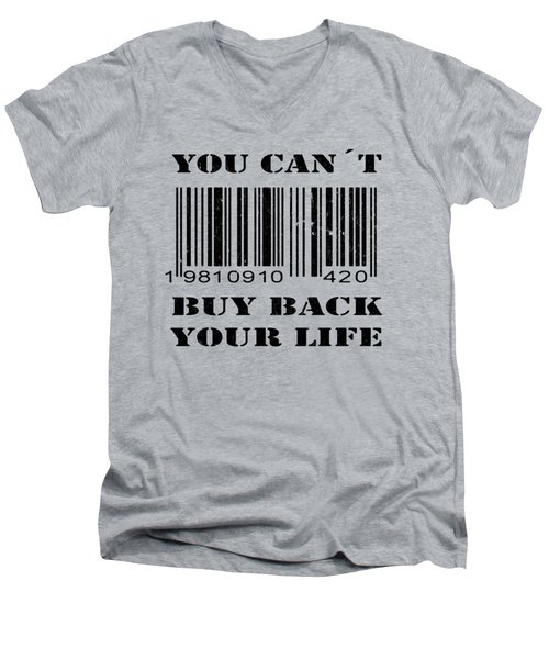 Buy Back Men's V-Neck T-Shirt by Nicklas Gustafsson