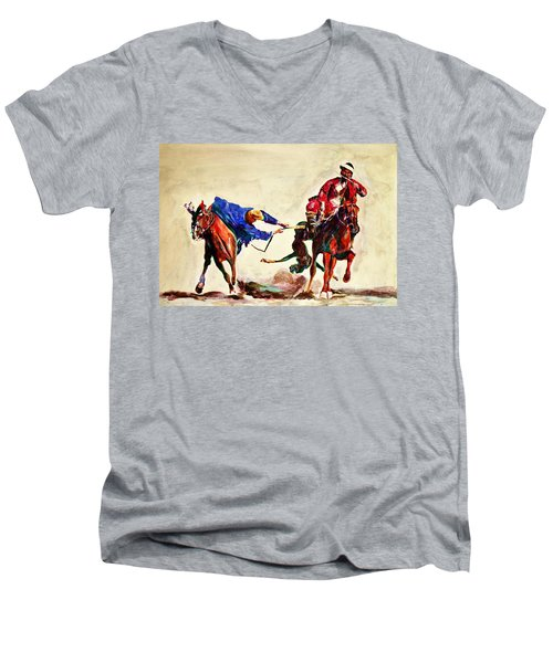 Buzkashi, A Power Game Men's V-Neck T-Shirt