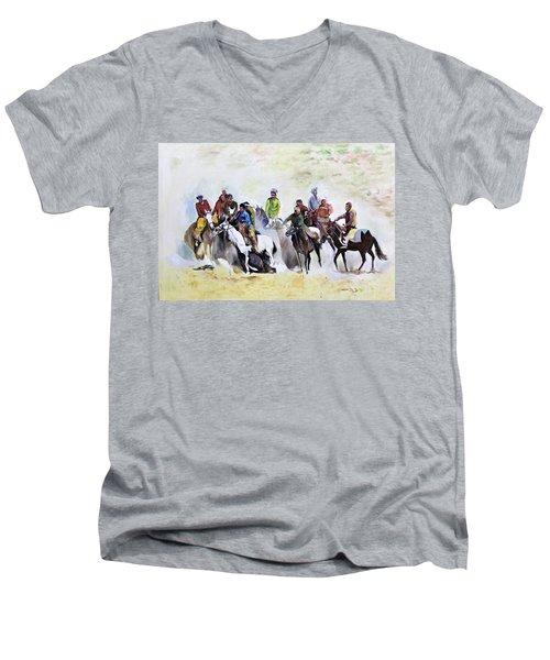 Buzkashi Sport Men's V-Neck T-Shirt