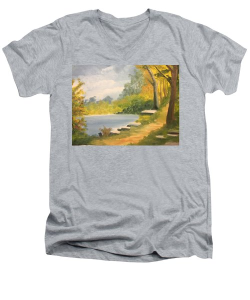 By The Lake Men's V-Neck T-Shirt