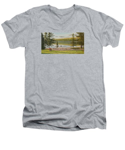 By The Lakeside Men's V-Neck T-Shirt