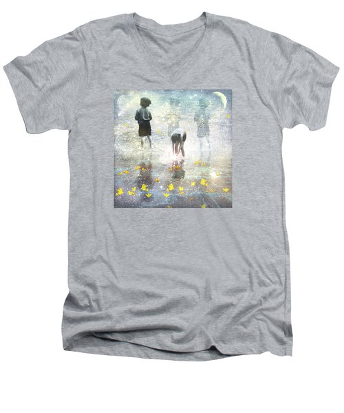 By The Light Of The Magical Moon Men's V-Neck T-Shirt