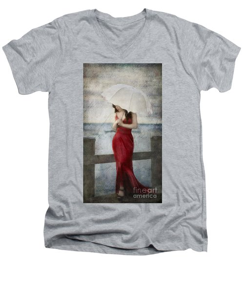 By The Northport Sea Men's V-Neck T-Shirt