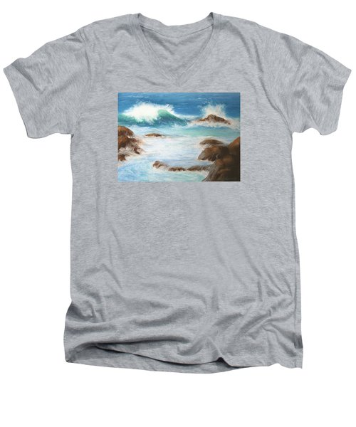 By The Sea Men's V-Neck T-Shirt by Marna Edwards Flavell