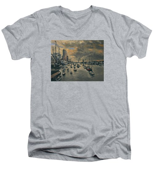 Bye Bye Sail Amsterdam Men's V-Neck T-Shirt