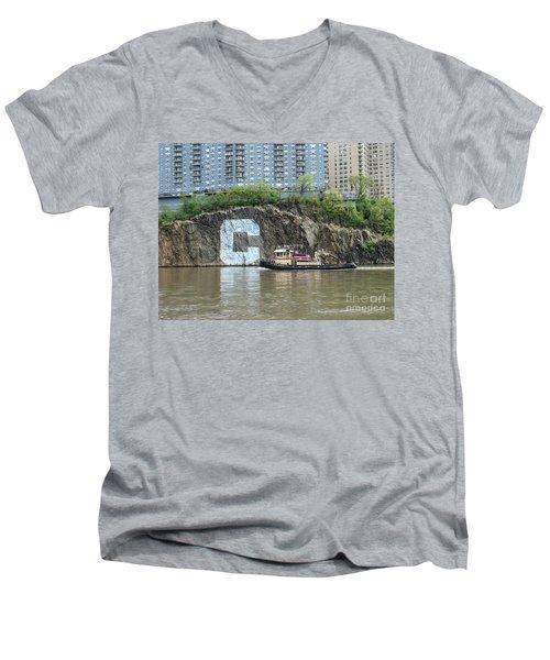 C Rock With Tug Men's V-Neck T-Shirt