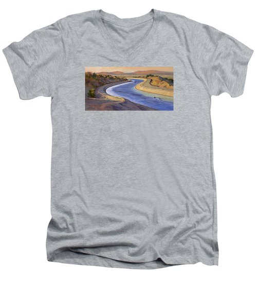 Ca Aqueduct 2 Men's V-Neck T-Shirt by Jane Thorpe