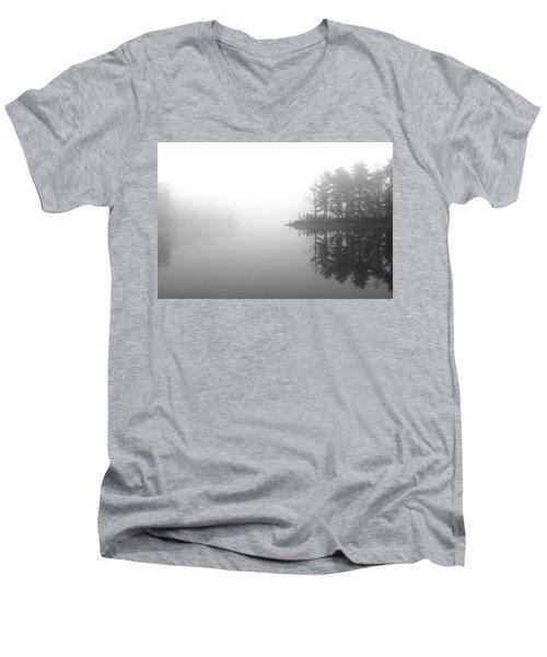Cabin In The Foggy Woods Men's V-Neck T-Shirt