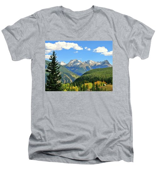 Cabin In The San Juans Men's V-Neck T-Shirt