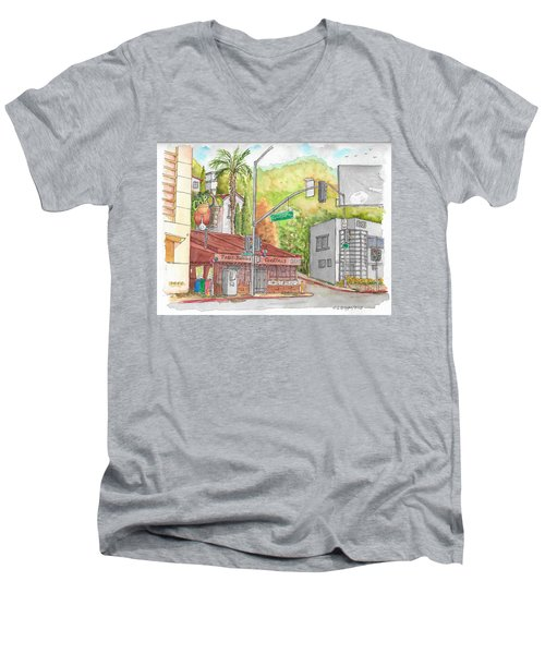 Cabo Cantina, Sunset Blvd And Sweetzer Ave., West Hollywood, California Men's V-Neck T-Shirt