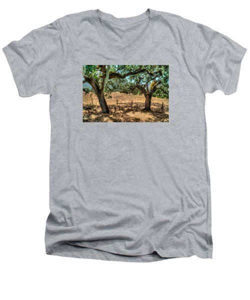 Cachagua  Men's V-Neck T-Shirt by Derek Dean