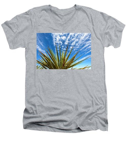 Cactus And Blue Sky Men's V-Neck T-Shirt by Amyn Nasser