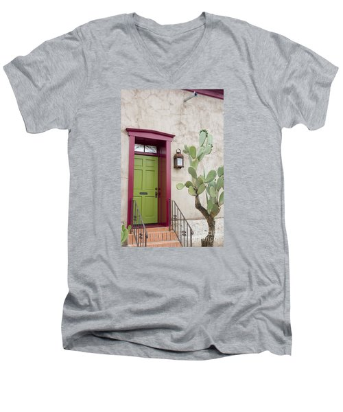 Cactus And Doorway Men's V-Neck T-Shirt