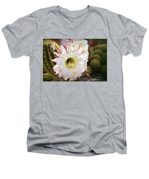 Cactus Bloom 2 Men's V-Neck T-Shirt