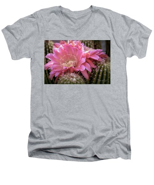 Cactus Bloom Men's V-Neck T-Shirt