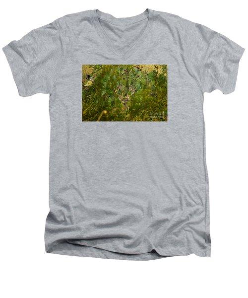 Cactus Buck Men's V-Neck T-Shirt