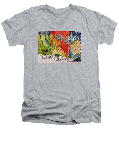 Cactus Garden  Men's V-Neck T-Shirt