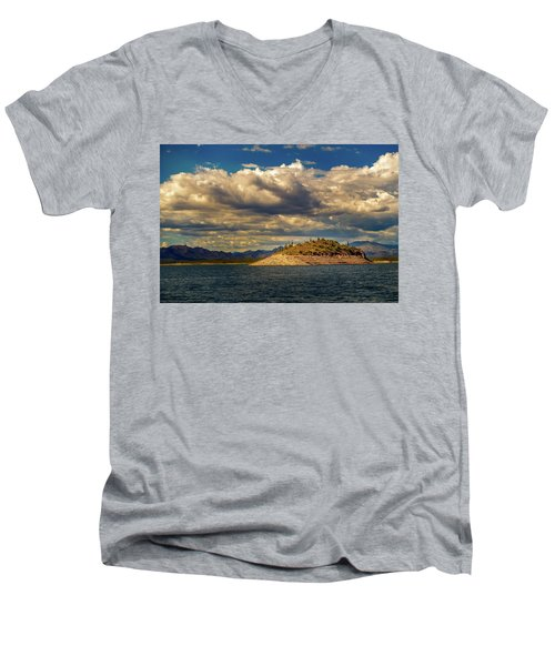 Cactus Island Men's V-Neck T-Shirt