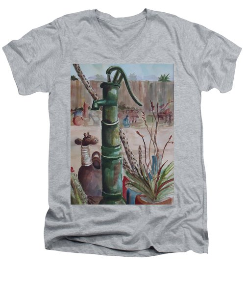 Cactus Joes' Pump Men's V-Neck T-Shirt