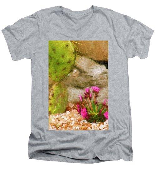 Cactus Lines Men's V-Neck T-Shirt