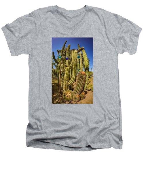 Cactus Skyscraper Men's V-Neck T-Shirt