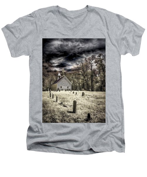 Cades Cove Church Men's V-Neck T-Shirt