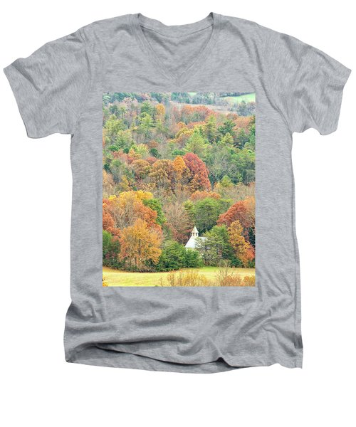 Cades Cove Methodist Church Men's V-Neck T-Shirt