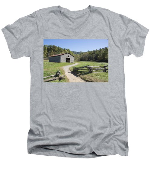 Cades Stables Men's V-Neck T-Shirt by Ricky Dean
