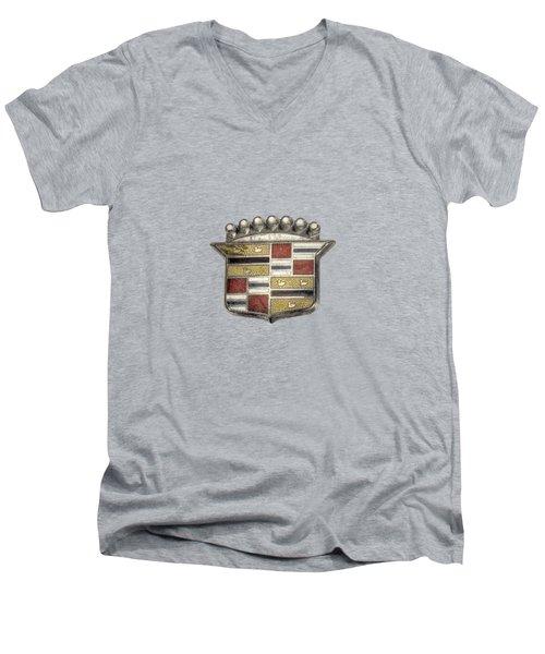 Cadillac Badge Men's V-Neck T-Shirt by YoPedro