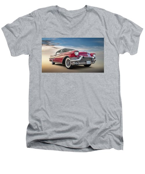 Men's V-Neck T-Shirt featuring the digital art Cadillac Jack by Douglas Pittman