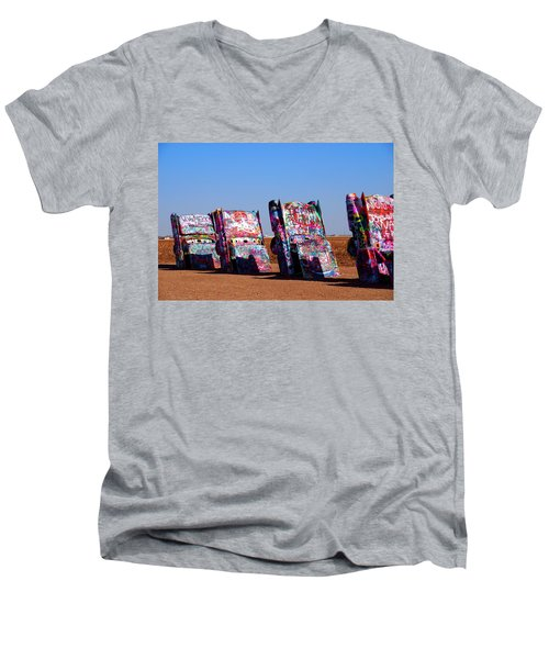 Cadillac Ranch  Men's V-Neck T-Shirt