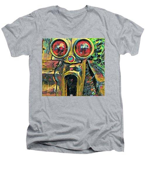 Cadillacasauraus Men's V-Neck T-Shirt