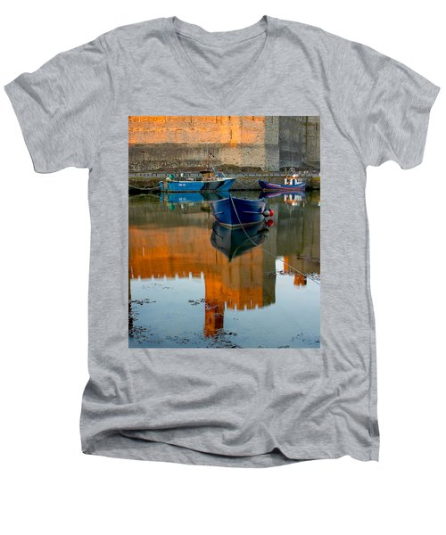 Caernarfon Reflections Men's V-Neck T-Shirt