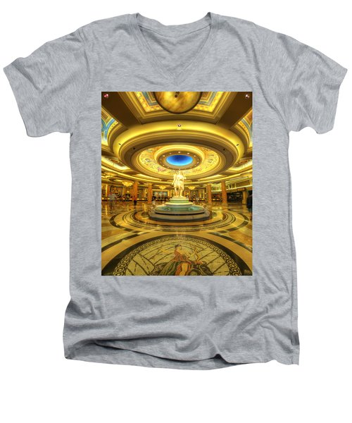 Caesar's Grand Lobby Men's V-Neck T-Shirt by Yhun Suarez