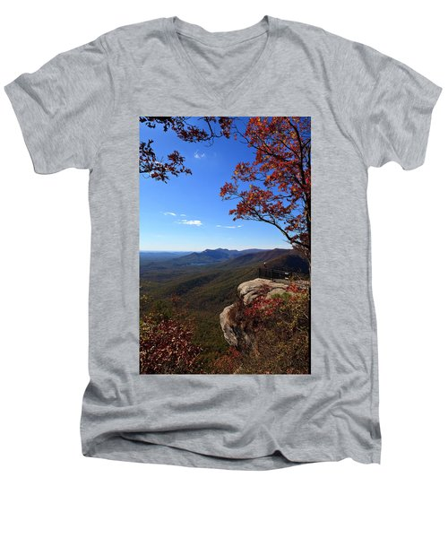 Caesars Head State Park In Upstate South Carolina Men's V-Neck T-Shirt