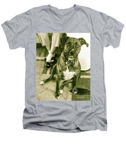 Caeser 6 Men's V-Neck T-Shirt by Robin Coaker