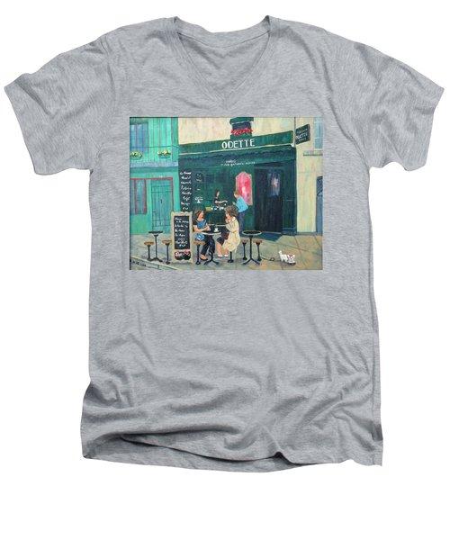 Cafe Odette Men's V-Neck T-Shirt