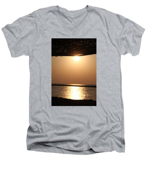 Men's V-Neck T-Shirt featuring the photograph Caffe Time by Jez C Self