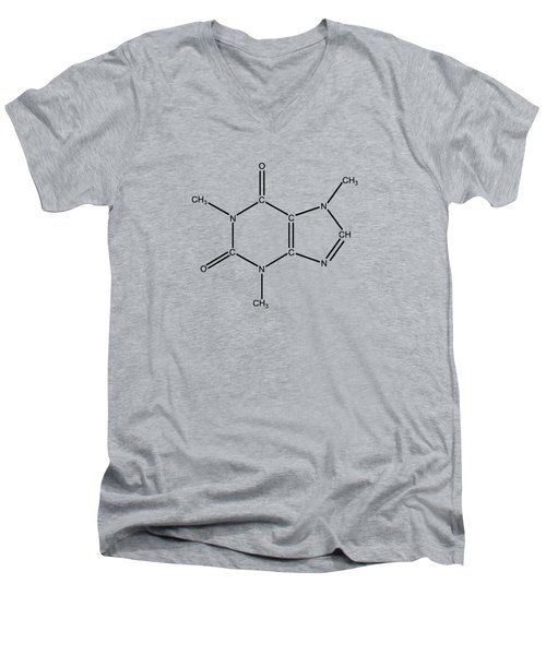 Caffeine Molecular Structure Vintage Men's V-Neck T-Shirt by Nikki Marie Smith