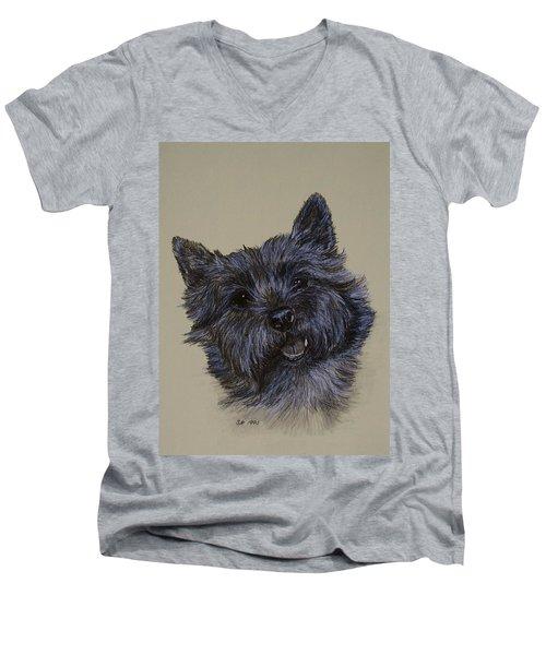 Cairn Terrier Men's V-Neck T-Shirt