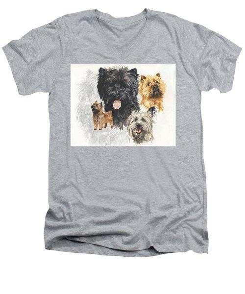 Cairn Terrier Revamp Men's V-Neck T-Shirt